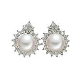 耳環 925純銀鑲鑽-時尚大方生日情人節禮物女飾品73dm184【時尚巴黎】