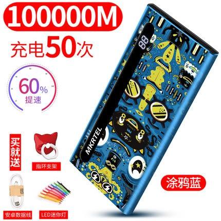 【現貨】大容量行動電源20000mah 蘋果vivo華為oppo手機小米通用快充6s卡通plus超薄7便攜行充
