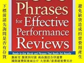 二手書博民逛書店2600罕見Phrases For Effective Performance ReviewsY255562