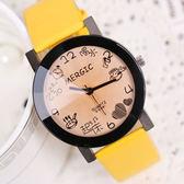 韓版潮流時尚手錶簡約情侶錶男錶中學生錶休閑皮帶女錶時裝石英錶 檸檬衣捨