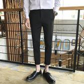新款休閑修身西裝顯瘦小腳男士九分夏季薄款潮流西褲 QQ311『優童屋』