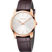 Calvin Klein CK City 極簡城市手錶-玫瑰金框/37mm K2G226G6