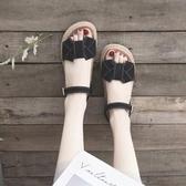 羅馬涼鞋涼鞋女仙女風新款夏季ins潮厚底網紅百搭夏天平底羅馬鞋子【快速出貨八折下殺】