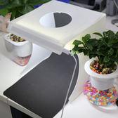 攝影棚迷你小型攝影棚折疊便攜式拍照攝影箱柔光箱雙排燈條小攝影棚 曼莎時尚