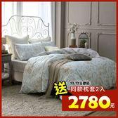 床包被套組 四件式雙人兩用被特大床包組/克莉斯朵藍/美國棉授權品牌[鴻宇]台灣製2017