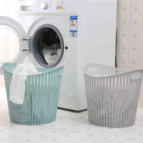 仿藤編臟衣籃塑料洗衣籃手提籃浴室臟衣服收納筐收納藍臟衣簍大號【小梨雜貨鋪】