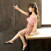 洋裝 女童洋裝夏裝新款童裝洋氣碎花雪紡裙夏女孩韓版兒童裙子潮