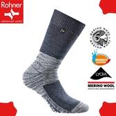 【Rohner 瑞士 fibre tech 中高筒美麗諾羊毛襪《丹寧藍》】603001/保暖/耐磨/吸濕/排汗/抗臭/彈性襪