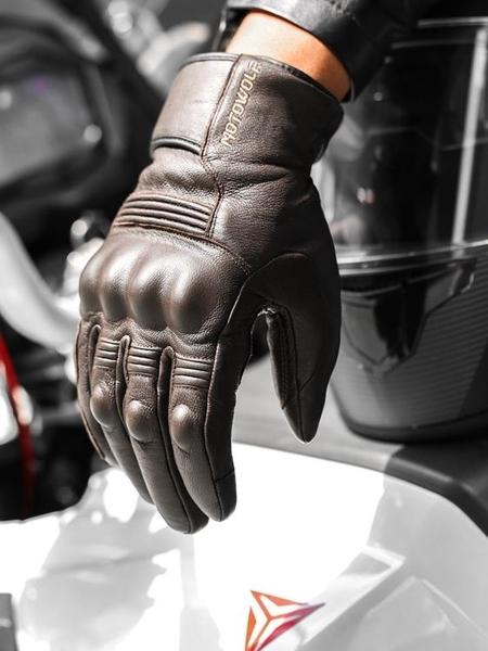 男冬季摩托車真皮手套機車騎士裝備防風防摔加厚加絨保暖防水抗寒