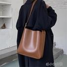 水桶包 質感學生單肩包包女新款潮時尚大容量百搭斜挎子母水桶包 快速出貨