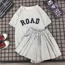 兩件式洋裝 夏新款韓版學生寬鬆少女休閒運動套裝原宿風bf短袖褲裙闊腿兩件套 傾城小鋪