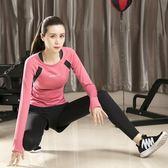 瑜伽服 秋冬修身顯瘦健身房初學者跑步套裝女假兩件褲-小精靈