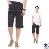 【NST Jeans】002(9410) 鋼鐵男子 質感光澤黑印花 七分休閒褲(中高腰 鬆緊帶 寬版)