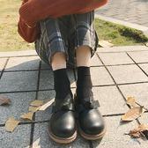 日系軟妹原宿ulzzang鞋子女韓版學生百搭大頭小皮鞋森系娃娃鞋女「千千女鞋」