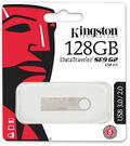 金士頓 DTSE9G2 128GB USB3.0 Kingston新版隨身碟(DTSE9G2/128GBFR)時尚金屬材質和貼心圈孔鑰匙圈設計