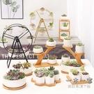 多肉花盆 多肉植物陶瓷小花盆套裝組合北歐簡約創意個性長方形室內白色盆器