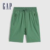 Gap男童 工裝風鬆緊直筒短褲 682045-綠色