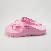 LOTTO 厚底美型人字拖鞋 輕量舒適 防水 LT0AWS2293 女款 粉【iSport愛運動】