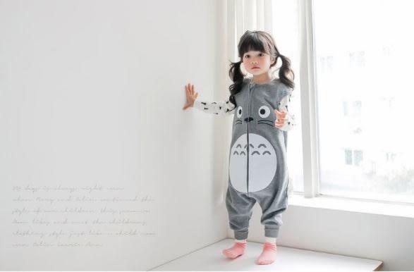 [預購] MILKIDS韓國寶寶連身衣 韓版兒童睡袋防踢被 卡通龍貓嬰幼兒空調服 (L0027)