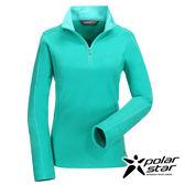 Polarstar 女雙刷花漾保暖上衣『蘋果綠』透氣│保暖│刷毛 P16256