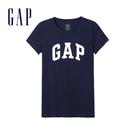Gap女裝 LOGO時尚印花短袖T恤 268820-海軍藍色