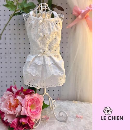 ★OBO CLUB HOUSE☆ PAZO   夏日透氣潔白水晶純棉小洋裝 - 蕾絲典點禮服