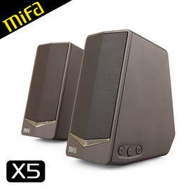 【風雅小舖】【MiFa X5 桌上型質感Hi-Fi喇叭】書架喇叭(無藍牙功能) 迷你音響系統