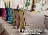 靠墊女王純色抱枕沙發靠墊北歐風靠枕床頭靠背套含芯靠包大號腰枕·Ifashion IGO