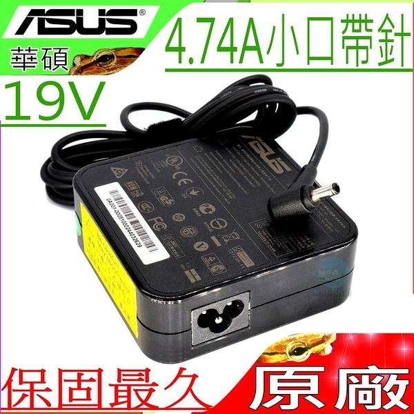 ASUS 90W 變壓器(原廠)-華碩 19V,4.74A,UX51VZ,UX51,UX51V,B451,B551,UX480FD,UX580,UX580GE,圓口帶針