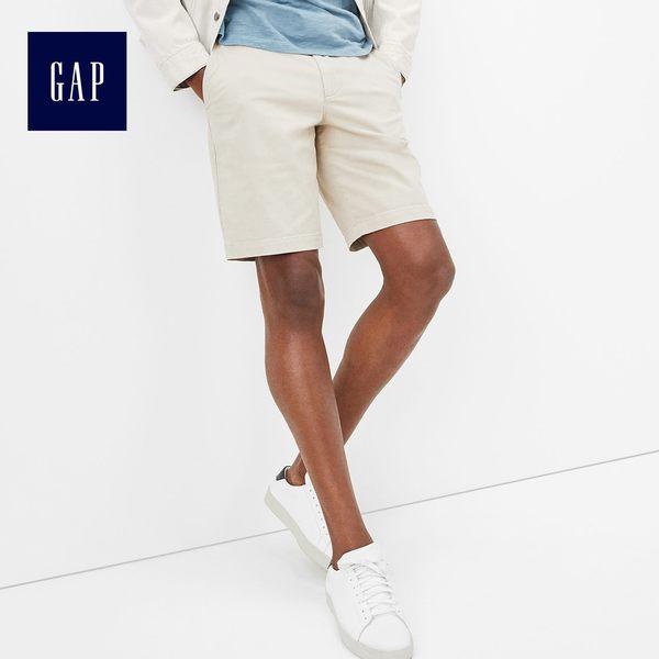 Gap男裝 多選色復古中腰短褲 440717-灰白色