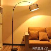 落地燈LED落地燈時尚釣魚客廳臥室書房創意麻將遙控北歐立式臺燈LX 貝兒鞋櫃