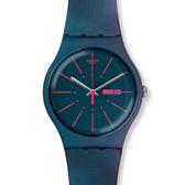 Swatch  迷幻藍紫光芒石英腕表   SUON708