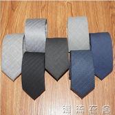 男士韓版窄版6cm英倫復古羊毛領帶灰色 5cm正裝商務黑色小領帶潮   潮流衣舍