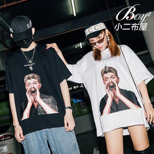 情侶短T 吶喊人物圖T短袖T恤【NQ92907】