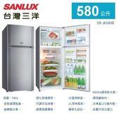 《台灣三洋SANLUX》 580公升雙門電冰箱 SR-A580B