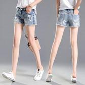 牛仔短褲ins超火的牛仔短褲女韓版破洞翻毛邊修身顯瘦薄款熱褲2018夏chic 曼莎時尚