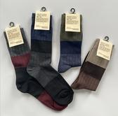 韓國東大門進口批發一手貨源新款拼色條紋橫條潮流棉襪男士長筒襪(一組5雙)