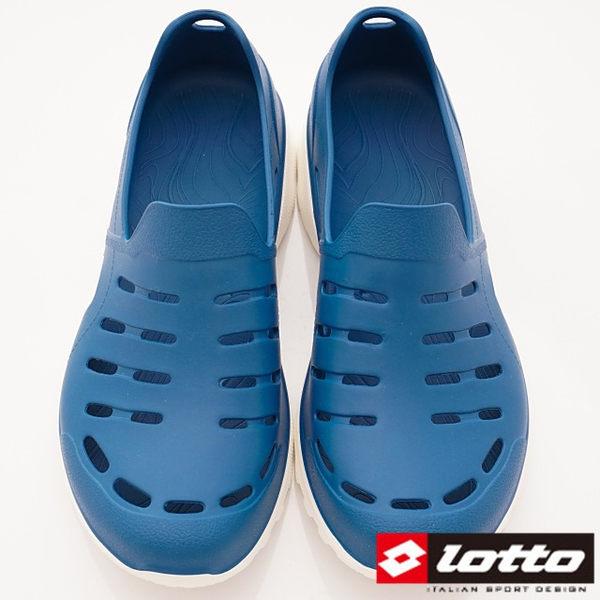 【LOTTO】ROSSA晴雨穿搭休閒鞋Q彈-LT8AMS6836-藍-男段-(現)