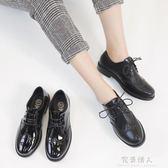 韓版新款夏季休閒  學院風復古英倫風小皮鞋休閒  鞋單鞋女鞋 全店免運