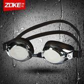 防水防霧男女士通用度數舒適高清專業電鍍泳鏡  晴光小語