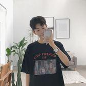 2018夏季新款創意印花男生圓領短袖T恤