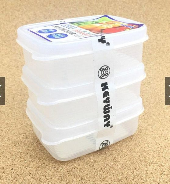 《一文百貨》KEYWAY長型巧麗密封盒三入100ML/G503/台灣製造