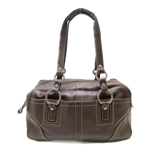 COACH 寇馳 咖啡色牛皮肩背包Handbag10580 【二手名牌BRAND OFF】