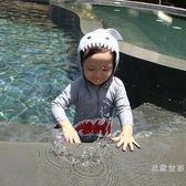 新款韓國鯊魚兒童連體泳衣可愛卡通男女童小童中童寶寶游泳衣