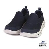Skechers 新竹皇家 GO Walk 暗藍色 織布 套入式 休閒鞋 男款 NO.B0273