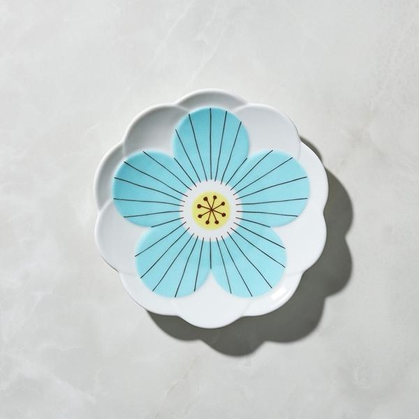日本晴九谷燒 - 花見淺盤 - 藍