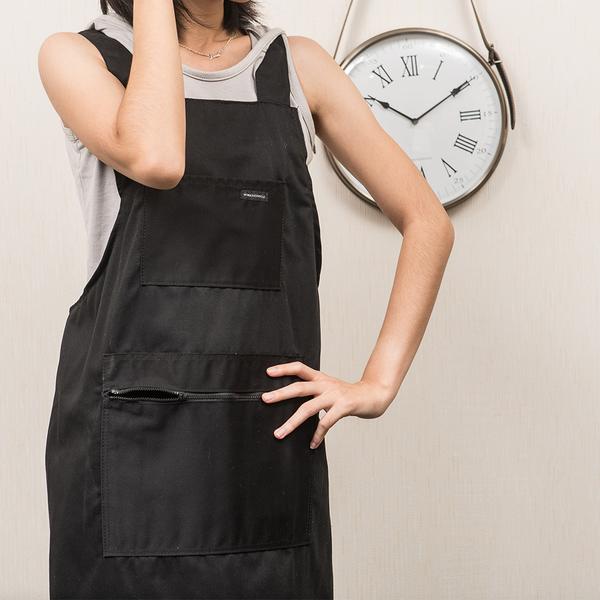 【週年慶開跑全館8折起】YUMMY H型圍裙-黑色-生活工場