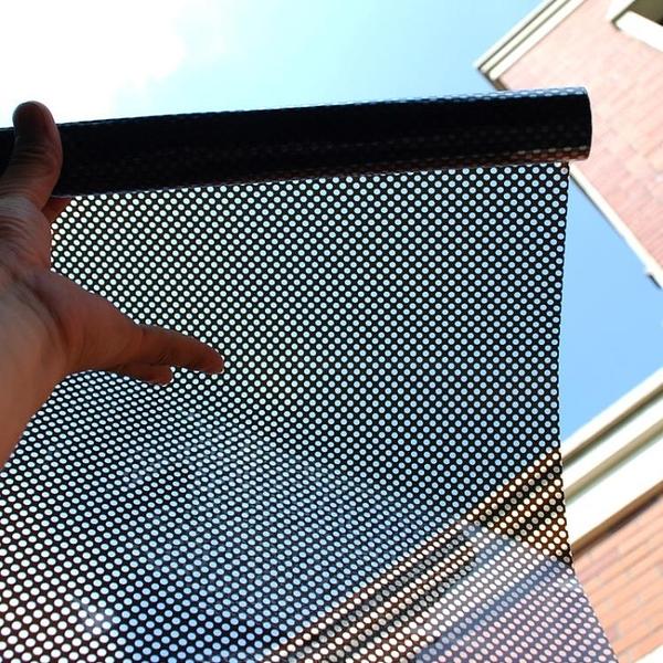 帶膠自黏玻璃貼膜網狀玻璃貼紙黑色遮陽窗貼擋光貼紙黑網汽車窗貼 四季生活