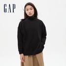 Gap女裝 碳素軟磨系列 純色高領長袖 591859-黑色