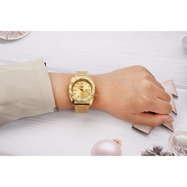 SEIKO 精工 5 Sports 金沙特別版機械錶-42.5mm 4R36-08E0G(SRPE74K1)